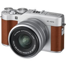 FUJIFILM X-A5 Mirrorless Digital Camera with 15-45mm Lens - Brown