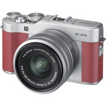 FUJIFILM X-A5 Mirrorless Digital Camera with 15-45mm Lens - Pink