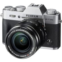 FUJIFILM X-T20 Mirrorless Digital Camera with 18-55mm Lens - Silver