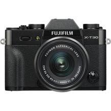FUJIFILM X-T30 Mirrorless Digital Camera with 15-45mm Lens - Black
