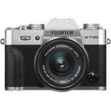 FUJIFILM X-T30 Mirrorless Digital Camera with 15-45mm Lens - Silver