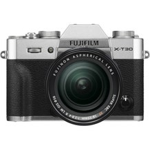 FUJIFILM X-T30 Mirrorless Digital Camera with 18-55mm Lens - Silver