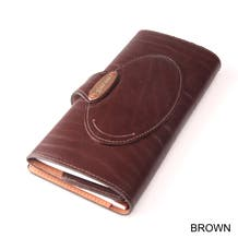 GoldFold Leather Call Sheet & Shooting Schedule Wallet - Brown