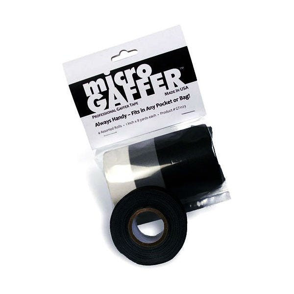 "microGaffer 1"" 4-Roll Gaffer Tape - Multi-Color (Black, White, Gray)"