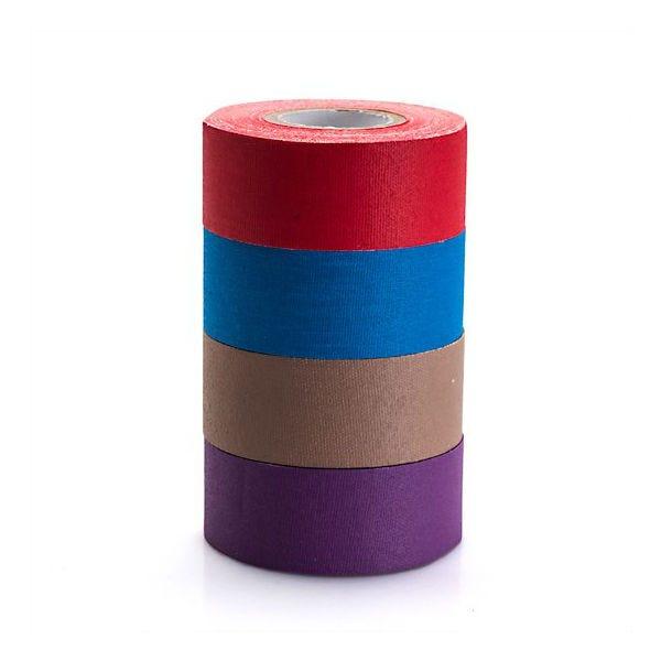 "microGaffer 1"" 4-Roll Gaffer Tape - Multi-Color (Red, Blue, Brown, Purple)"