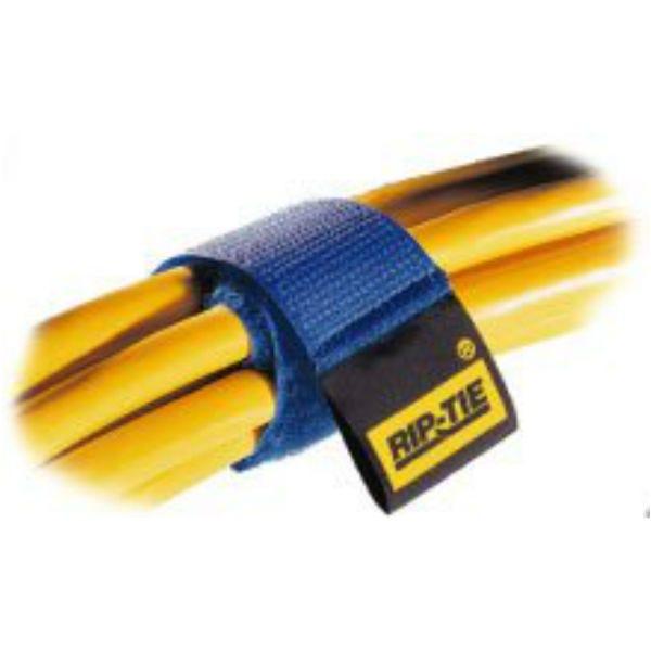 "Rip-Tie hook and loop Cable Wrap.  1"" x 6"" Black 3-Pack"