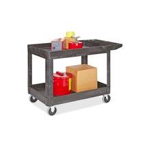 Rubbermaid Flat Handle Utility Cart - Black