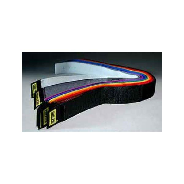 """Rip-Tie hook and loop Cable Ties. 1"""" x 14"""". Rainbow Ten Pack."""