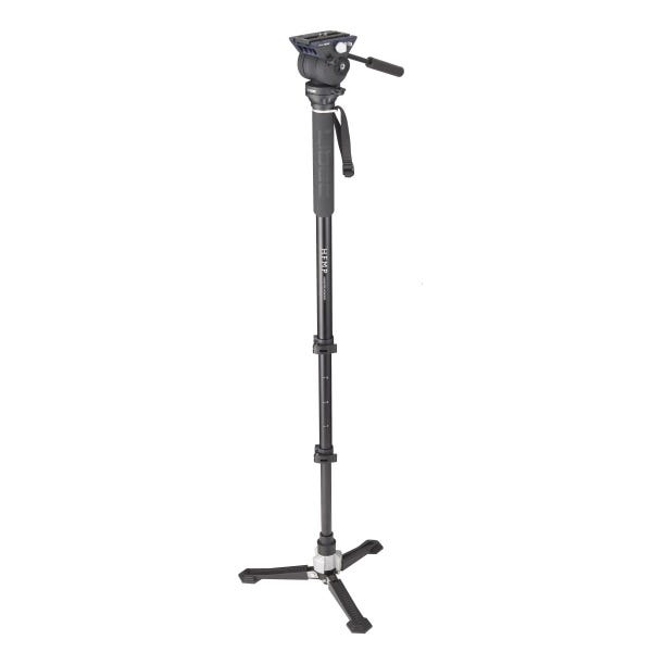 Libec Hands-Free Monopod with Dual Base Video Head and Carrying Case Kit