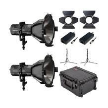 HIVE LIGHTING Hornet 200-C PAR Spot LED 2-Light Kit with Hard Rolling Case & Custom Foam