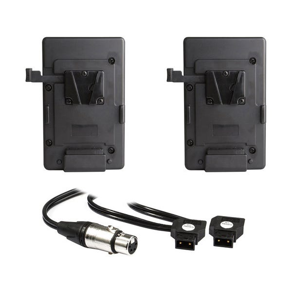 HIVE LIGHTING Dual V-Mount Battery Plate with Y-Cable for Hornet 200-C LED Light