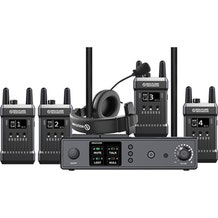 Hollyland Full Duplex Wireless Intercom System (1 Base Station and 4 Beltpacks)