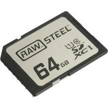 HoodMan RAWSDXC64GBU1 STEEL UHS-1 SDXC Memory Card 64GB