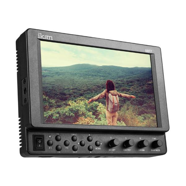 "Ikan 7"" 4K Full HD HDMI / 3G-SDI On-Camera Monitor with Canon LP-E6 & Sony L Battery Plates"