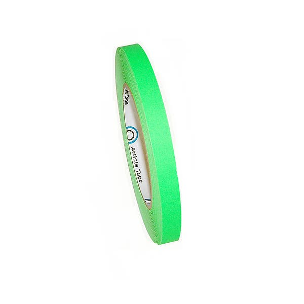 """ProTapes 1/2"""" Paper Tape - Fluorescent Green"""