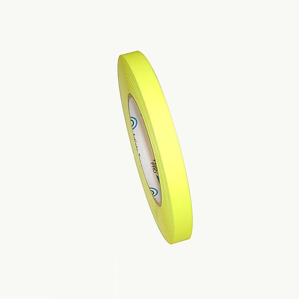 """ProTapes 1/2"""" Paper Tape - Fluorescent Yellow"""