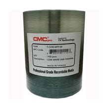 CMC Pro Taiyo Yuden 52x White Thermal Printable CD-R - 100pc