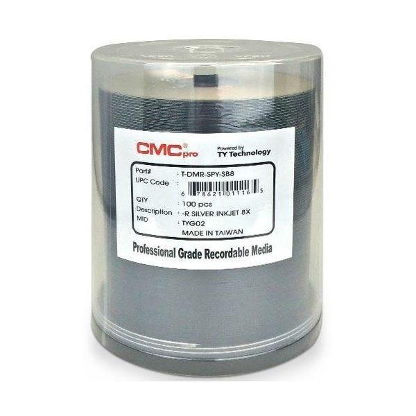 CMC Pro Taiyo Yuden 16X Silver Inkjet Hub Printable DVD-R 4.7GB - 100pc