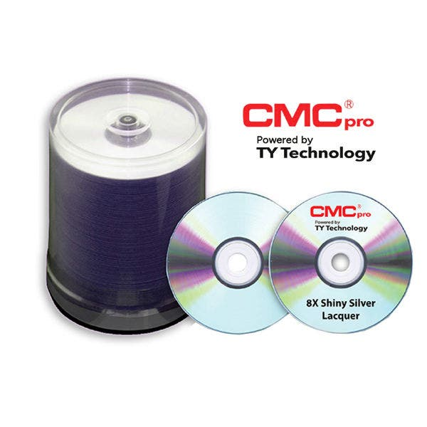 photograph about Printable Dvd-r named CMC Professional Taiyo Yuden 8X Silver Inkjet Printable DVD-R - 100computer system