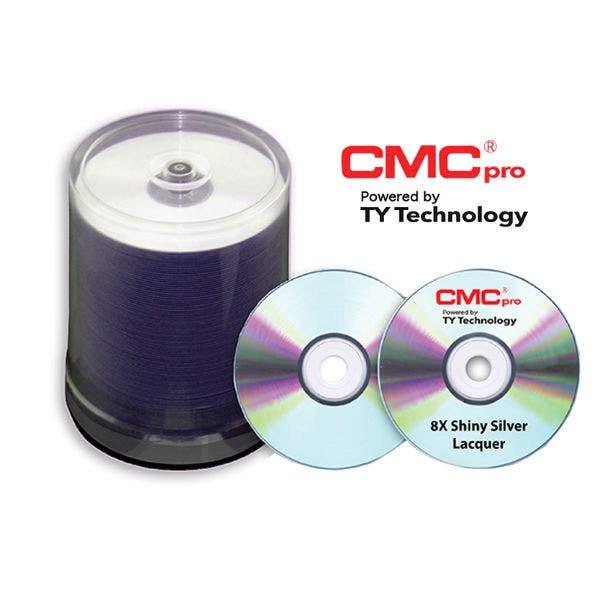 photo about Inkjet Printable Dvd identified as CMC Skilled Taiyo Yuden 8X Silver Inkjet Printable DVD-R - 100computer system