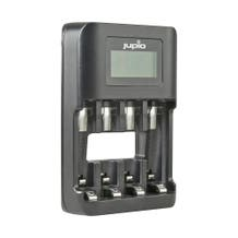 Jupio 4-Slot USB Ultra-Fast Charger with LCD for Rechargeable AA and AAA Batteries