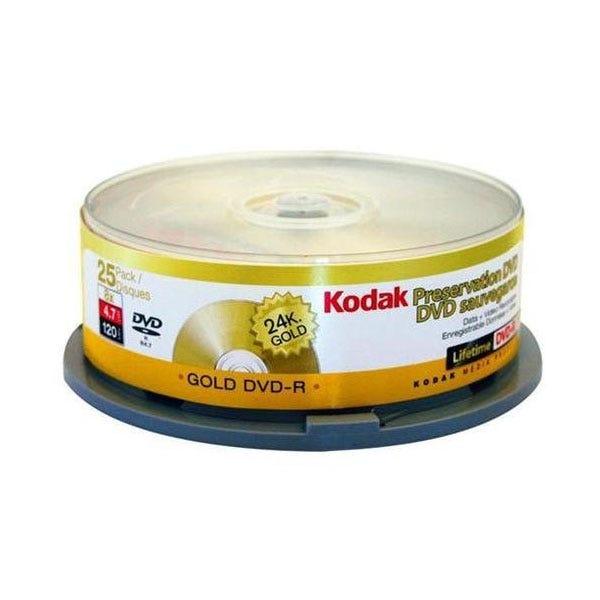 Kodak Gold Preservation Write-Once 4.7GB 8X DVD-R - 25 Pk