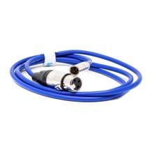Kondor Blue 5' Mini XLR Male to XLR Female Audio Cable for BMPCC 4K/6K Camera - Blue