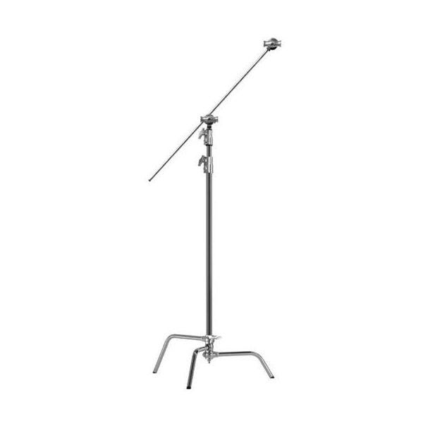 "Kupo 40"" Chrome Master C-Stand with Sliding Leg, Grip Head & Arm"