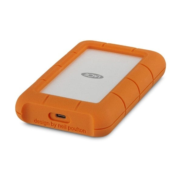 LaCie 2TB Rugged USB 3.0 Type-C External Hard Drive