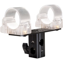 """Ledgo T14 Transparent clip for single tube with 5/8"""" Lamp Adapter"""