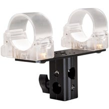 "Ledgo T14 Transparent clip for single tube with 5/8"" Lamp Adapter"