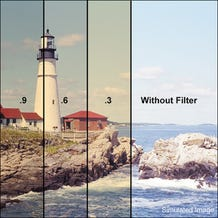 "LEE Filters 3 x 3"" 85B Color Conversion Polyester Filter - Neutral Density 0.9"