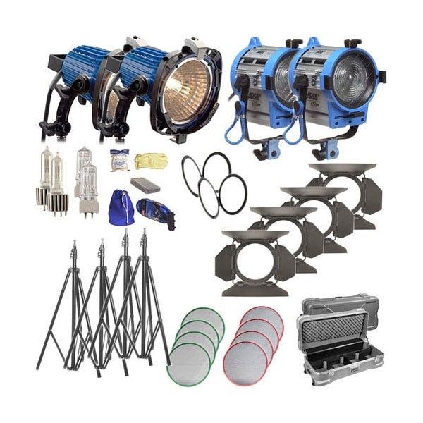 Arri Arrilite/Fresnel Tungsten 4 Light Combo Kit - 120V AC