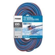 Prime LT530835 Arctic Blue 100ft. 12/3 Rubber Extension Cord