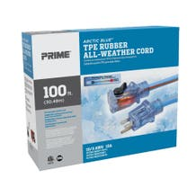 Prime LT530935 Artic Blue 100ft Ultra Heavy Duty All-Weather TPE Extension Cord