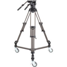 Libec 2-Stage Aluminum Tripod System with Dolly & Dual Pan Handles