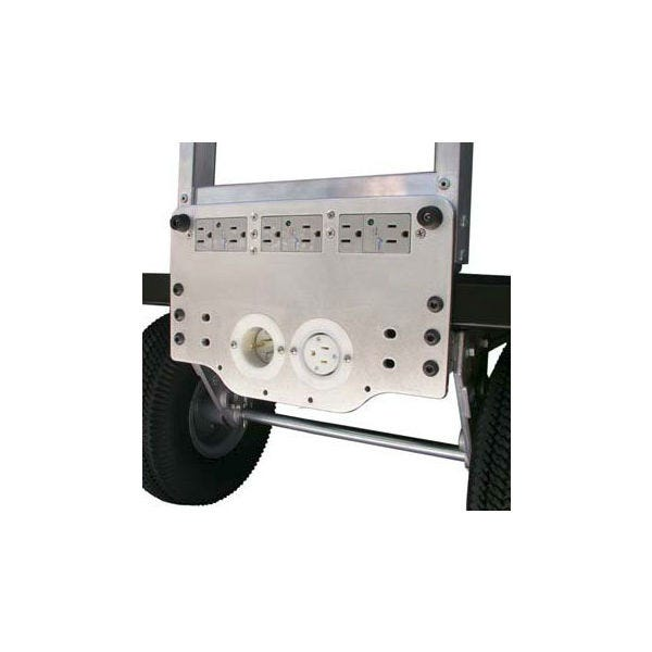 Backstage Magliner MAG-X AC SP Mini AC Toe Plate with 6 Outlets