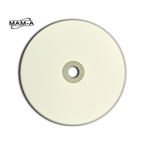 MAM-A 52X White Inkjet Portable Gold Archival 700MB CD-R - 100pc