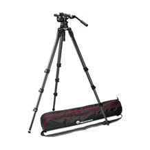 Manfrotto Nitrotech N12 Video Head & 536 Carbon Fiber Single Legs Tripod System