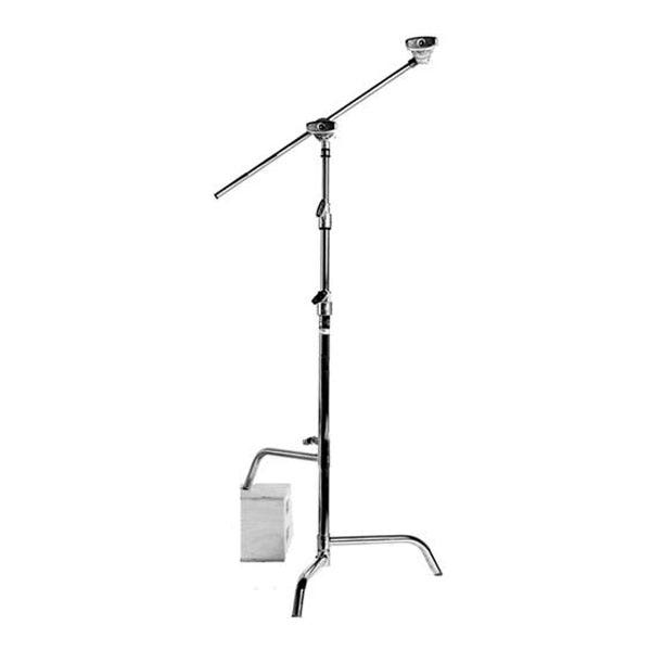 "Matthews Studio Equipment 40"" Chrome Hollywood Pro C-Stand with Sliding Leg"