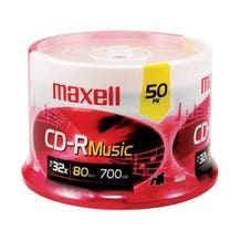Maxell Compact Music 700MB 32X CD-RW - 50 Pk