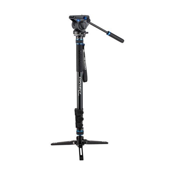 Benro #3 MCT38AF Monopod with Flip Locks, 3-Leg Base, and S4 Video Head