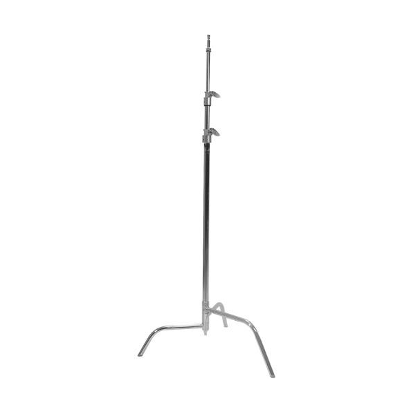 "Matthews Studio Equipment 40"" Chrome Hollywood C-Stand with Spring Loaded Base"