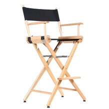 Custom Back Print - Film Craft Studio Tall Director's Chair - Natural