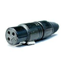 Neutrik XLR Cable Connector NC3FX-B. Gold 3-Pin Female.