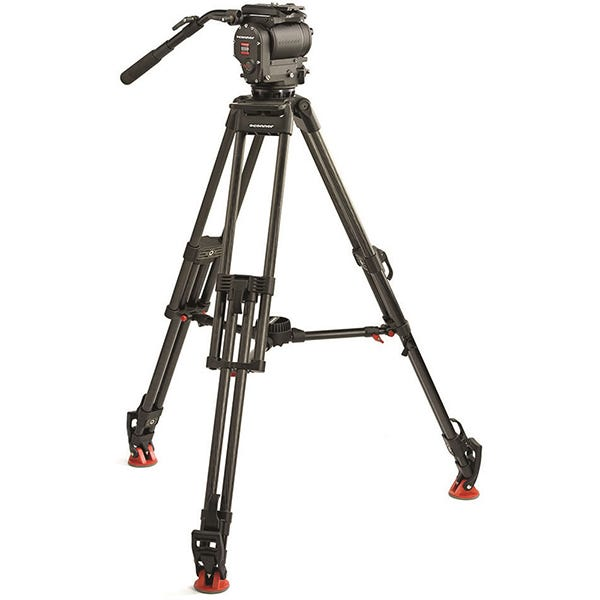 OConnor 1030DS Ultimate Fluid Head and 30L Tripod with Mid Level Spreader and Case