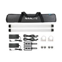 Nanlite Pavotube II 15X 2ft RGBWW LED Pixel Light Tube - 2 Light Kit