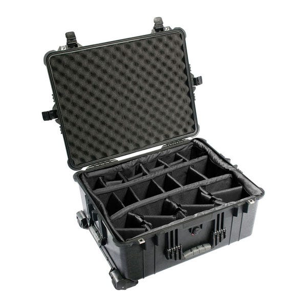 Pelican 1610 Waterproof Case with Dividers - Black