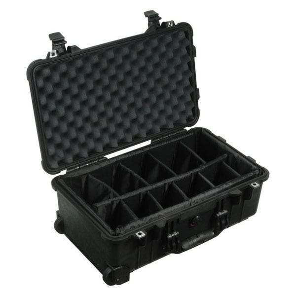 Pelican 1514 Carry On 1510 Case with Dividers - Black