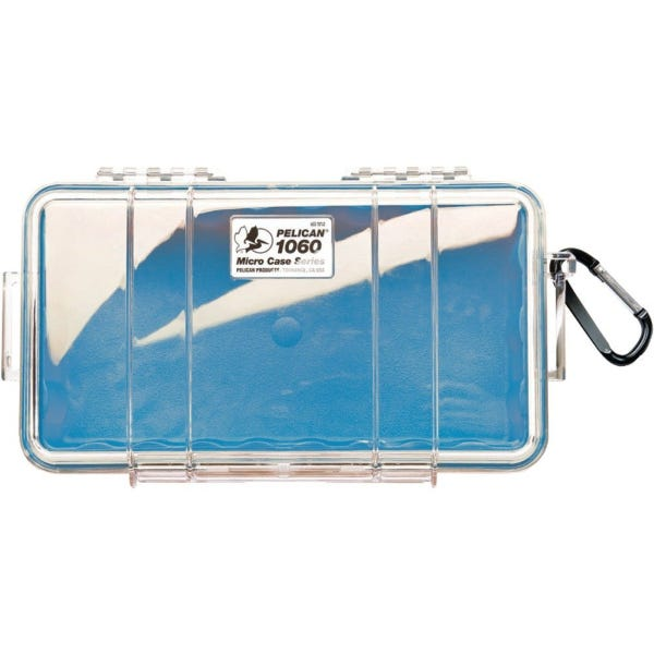 Pelican 1060 Micro Case - Clear Top with Blue Bottom